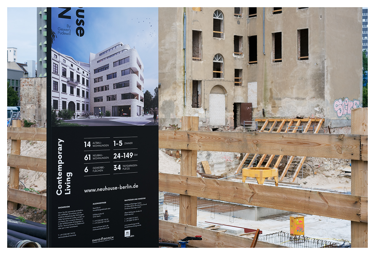 Fake old Berlin (Kreativquartier, Südliche Friedrichstadt, Berlin, 2017)