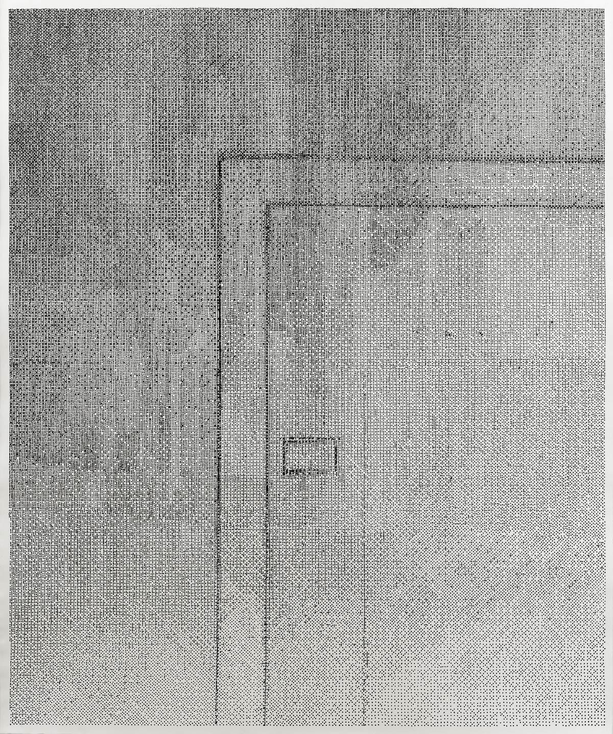Lichtverlauf Tür I-IV 2020/21, 4-teilig Kaltnadelradierung auf Zerkall Bütten III-IV je 117 x 98 cm (Blattmaß)