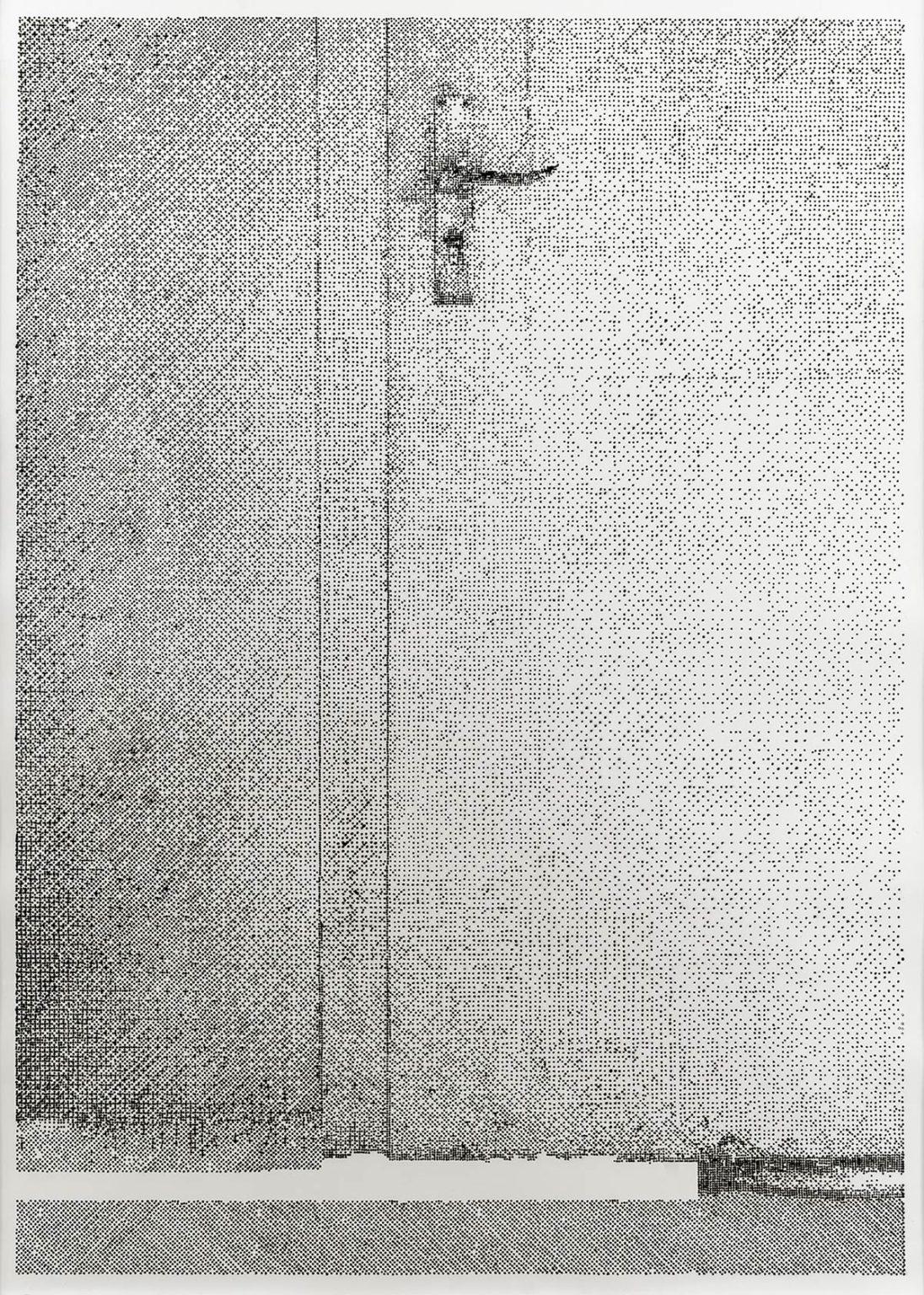 Lichtverlauf Tür I-IV 2020/21, 4-teilig Kaltnadelradierung auf Zerkall Bütten I-II je 138 x 98 cm (Blattmaß)