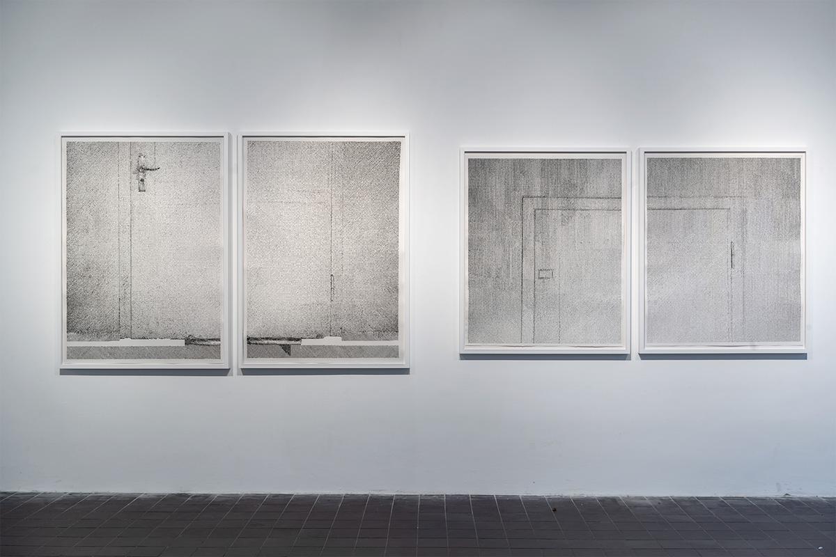 Lichtverlauf Tür I-IV, Ausstellungsansicht Weltkunstzimmer, Düsseldorf 2021