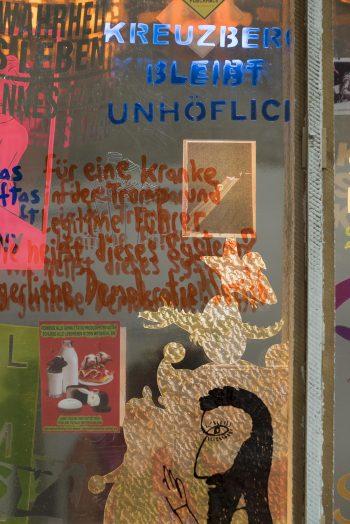 Kreuzberg bleibt unhöflich, mixed media, (Detail) 8-teilig, je 105,5 x 64,5 cm, 2018