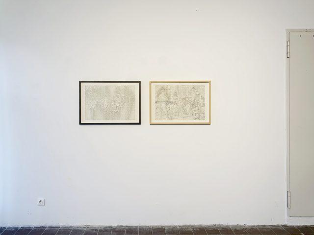 v.l.: untitled (Trang Bang), untitled (Etappenquartier), Ausstellungsansicht Weltkunstzimmer, Düsseldorf 2021